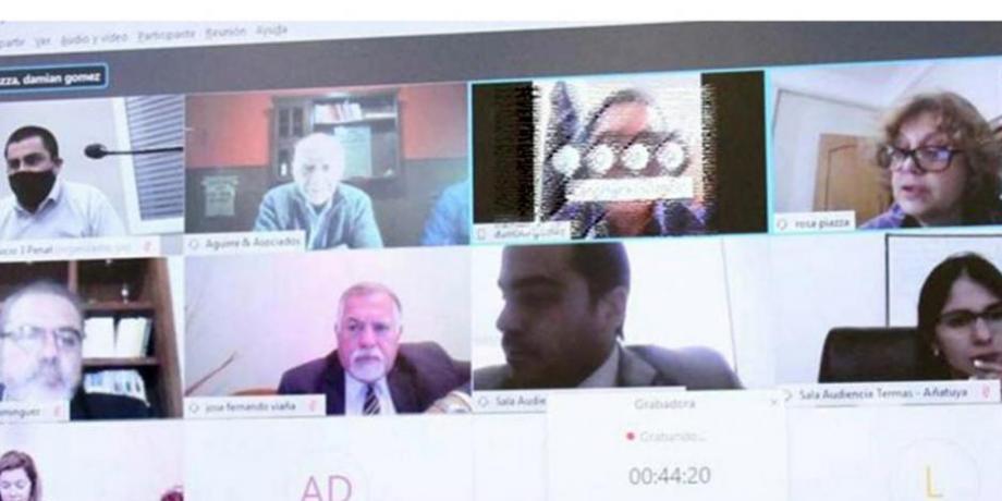 El juicio se desarrolló a través de una plataforma virtual con todas las partes.