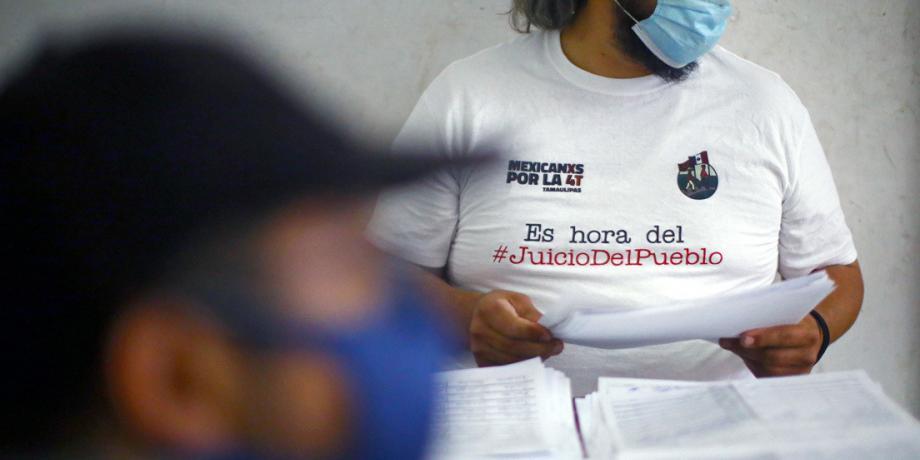 Recaudación de firmas para consulta ciudadana, Ciudad de México, México, 14 de septiembre de 2020